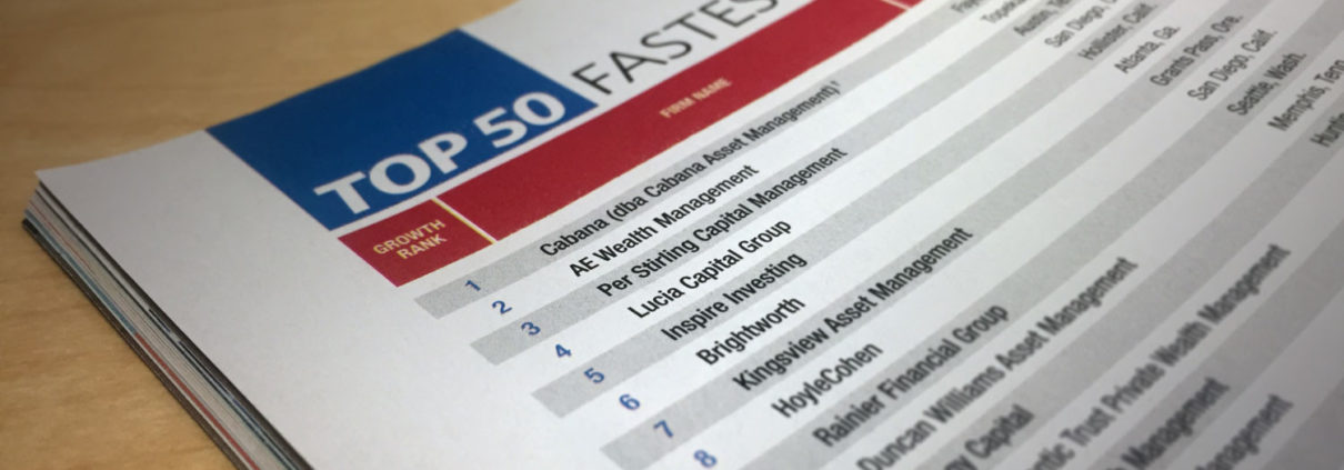 "Inspire 5th in ""Top 50 Fastest Growing RIAs"" - FA Mag"