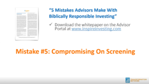 Mistake #5 - Compromise on screening